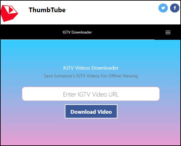 Сервис для скачивания IGTV из Инстаграма