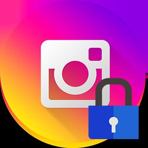 Закрыть профиль в Инстаграме логотип