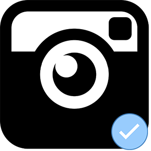 Логотип Инстаграм подтверждение
