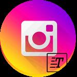 Инстаграм логотип текст
