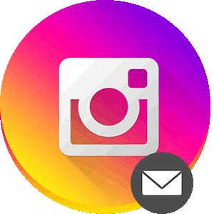 Инстаграм отправить сообщение в Директ логотип