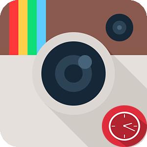 Инстаграм проведенное время в социальной сети логотип