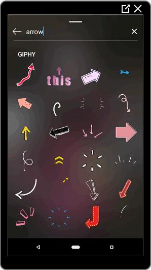 Стикеры стрелка в Инстаграме