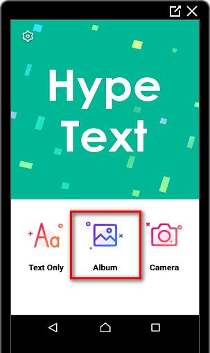 Функция Album в HypeText для Инстаграма