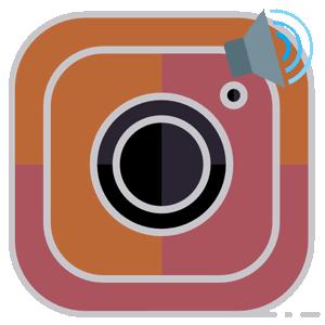 Инстаграм включить звук логотип