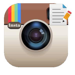 Инстаграм писать текст логотип