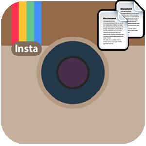 Инстаграм копирование текста логотип